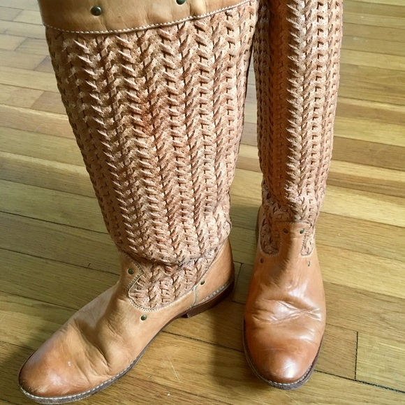Frye Shoes   Frye Woven Studded Boots